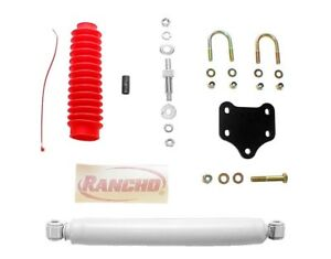 Steering Stabilizer/Damper Kit-Single Steering Damper Kit Front Rancho RS97488