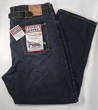 Evisu Mens New With Tags Raw Selvedge Denim Button Front Blue Jeans Size 42 x 34