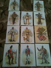 Set x 11 Military Postcards Royal Northumberland Fusiliers by Alix Baker