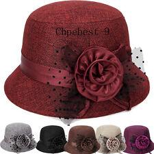 Large Flower Pot Cap Middle-aged Hat Linen Sunshade Hat Ladie Sunscreen Princess