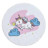 Details about  /3D Unicorn Star NAO1513 Summer Plush Fleece Blanket Picnic Beach Towel Dry Fay