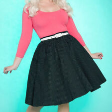 Pinup Couture Pinup Girl Clothing Allison dress pink black dots long 3/4 sleeve