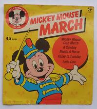 "MICKEY MOUSE MARCH""Vinyl 7"" 4 Song 45rpm EP Walt Disney 1965 Disneyland 610 RARE"