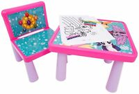 Kids Table And Chair Set My Little Pony Art Desk Activity Colour Girls Fun Gift
