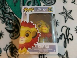 Funko Pop! Vinyl SIMBA With Leaf Mane #302 Disney The Lion King
