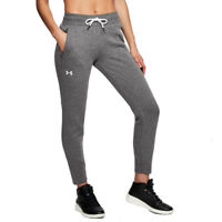 Under Armour UA Ladies Slim Leg Ribbed Cuff Grey Joggers Sports Gym Pants XL