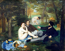 Luncheon on the Grass A1+ by Edouard Manet High Quality Canvas Art Print