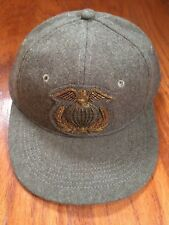 POLO RALPH LAUREN RRL EAGLE GLOBE BULLION 6 PANEL LEATHER SWEATBAND WOOL S/M HAT