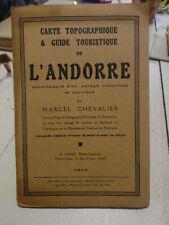 1933 carte topographique & guide touristique de l'andorre