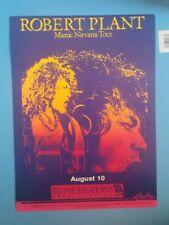 Rare - Robert Plant Manic Nirvana Tour Concert poster August 10 Irvine Meadows