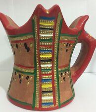 Handmade Clay Incense Burner, Hand Painted Arabic Frankincense Burner Oman.