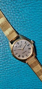 Vintage 1969's Longines Flagship Gold Plating Cal.5601 Hand-Winding Ladies Watch