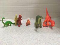 Vintage 70's Plastic Dinosaurs