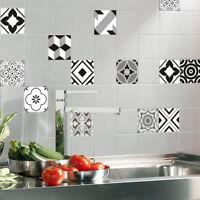 12pcs Bohemia Style Mosaic Wall Tiles Stickers Kitchen Bathroom Tile Decals