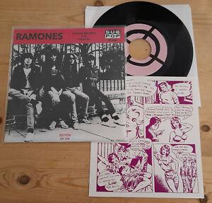 "RAMONES - Carbona Not Glue 7"" BLACK Vinyl + Insert"