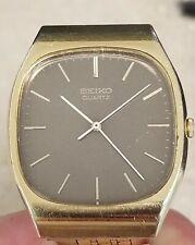 Vintage SEIKO Men's 4100-5039 Quartz Gold  Dress Watch 3 Jewel