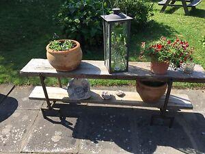 Böcke aus Stahl für Blumenbank, Neuanfertigung, rostend, vielseitig verwendbar