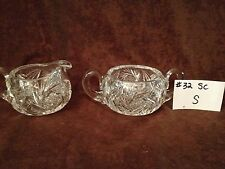 American Brilliant Cut Glass Sinclaire Sugar and Creamer #32SC