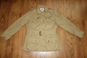 BARBOUR TWILL INTERNATIONAL, BEIGE, VERY GOOD CONDITION, COTTON,  SIZE UK 12