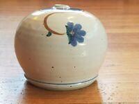 Beautiful, Wheel-Thrown Studio Stoneware Pottery Bud Vase Weed Pot Marked