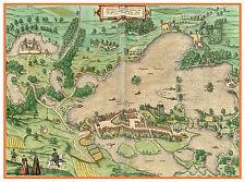 Plön Schleswig-Holstein Germany bird's-eye view map Braun Hogenberg ca.1598