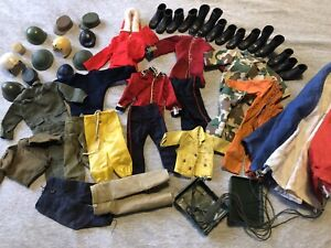 Vintage Action Man Job Lot Of Part Uniforms -