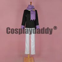 Pokemon HeartGold and SoulSilver Morty Matsuba Outfit Cosplay Costume F006