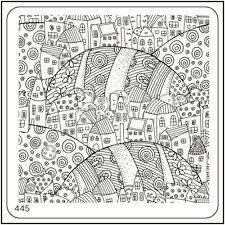 MoYou Nail Fashion Stamping Nail Art Image Plate 445 Urban Style Hills