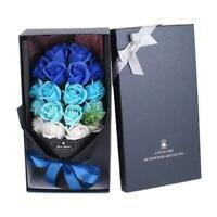 Bouquet Artificial Soap Rose Flower Valentine's Day Wedding Gifts P4Z5