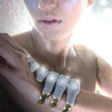 "nOir for Walt Disney Gold ""Fantasia"" Pave Dinosaur Bones Cuff Bracelet"
