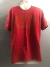 Euc Under Armour Heat Gear Mens Loose Fit Short Sleeve T- Shirt Red Sz Small