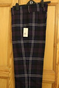 "HERITAGE OF SCOTLAND tartan trews size 34"" waist R length"