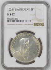 Schweiz 5 Franken 1924 B (Bern) Eidgenossenschaft