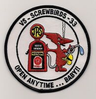 USN VS-33 SCREWBIRDS OPEN ANYTIME BABY patch S-3 VIKING SQN