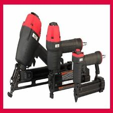 Roofing Pneumatic Angle Finish Nailer Narrow Crown Stapler Pinner Combo Kit Gun
