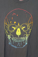 Mambo Australia Rainbow Skull Gray Soft Cotton T-Shirt Adult XL