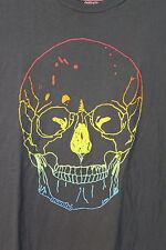Mambo Australia Rainbow Skull Gray Soft Cotton T-Shirt Adult XL