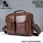 US-Men-Genuine-Leather-Briefcase-Business-Crossbody-Shoulder-Bag-Travel-
