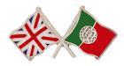 Portugal Flag & United Kingdom Flag Friendship Courtesy Pin Badge