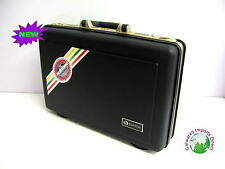 New Plastic Hard Attache Case Briefcase  Locks Brief Case Gold Inside