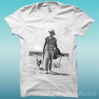 "T-SHIRT "" JOHN WAYNE DESERT DOG "" WHITE THE HAPPINESS IS HAVE MY T-SHIRT NEW"