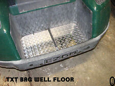 Ezgo TXT Golf Cart Highly Polished Aluminum Diamond Plate BagWell Floor Cover