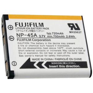Batterie D'ORIGINE FUJI FUJIFILM NP-45A GENUINE battery AKKU ACCU 3.7V 720mAh