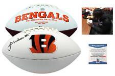 John Ross Autographed SIGNED Cincinnati Bengals Logo Football - Beckett w/ Photo