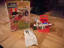 Evel Knievel - Super Jet Cycle With Figure in original box with manual from 1976