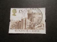 GB 1992 Castles Stamps~£5 Brown Value ~Very Fine Used~UK Seller