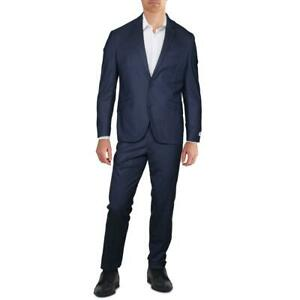 Kenneth Cole Reaction Mens Blue Business Two-Button Suit Jacket 40S BHFO 0075