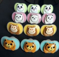 6XCute Pacifier/dummy BPAFREE With Shields FREE POSTAGE. Ortho And Cherry Styles