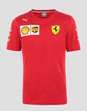 NEW Scuderia FERRARI F1 Team T Shirt Tee MENS Red Vettel, Leclerc OFFICIAL