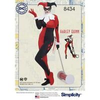 Simplicity Pattern 8434 knit Costume Pattern DC Comics Harley Quinn BB 20-28